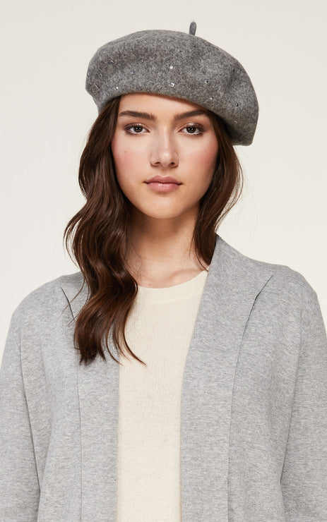 Soia & Kyo- Suzette Studs Beret in Ash