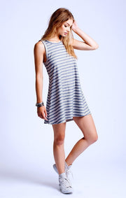 SOL Los Angeles Loop Stripe Flounce Dress at Blond Genius - 1