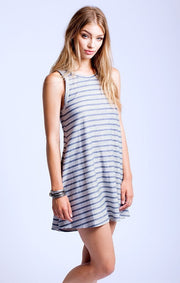 SOL Los Angeles Loop Stripe Flounce Dress at Blond Genius - 2