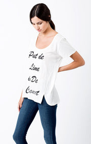 Sol Angeles - Coconut Double Split Tee D White