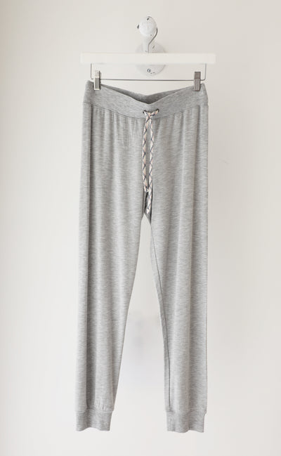 David Lerner - Lounge Cuffed Jogger in Heather Grey