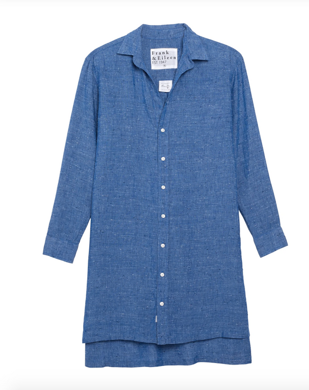 Frank & Eileen - Hunter Dress in Textured Blue Linen