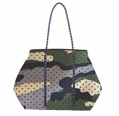 Annabel Ingall - Sporty Spice Neoprene Tote in Blue Camo