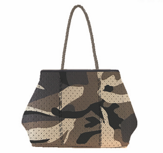Annabel Ingall - Sporty Spice Neoprene Tote in Brown Camo