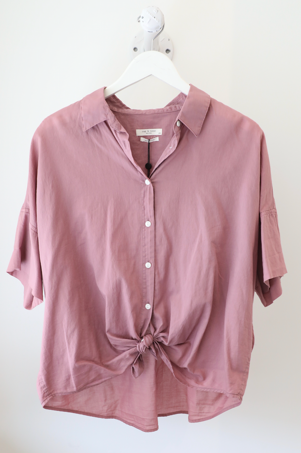 Rag & Bone - Tie Shirt in Mauve