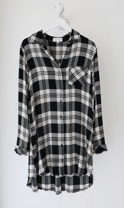 Bella Dahl - Fray Pocket Shirt Dress in Highland Peak