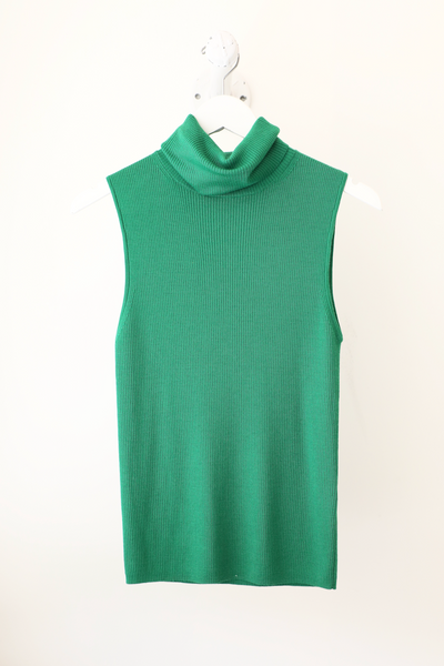Alice & Olivia - Darcey Turtleneck Sweater Tank in Emerald