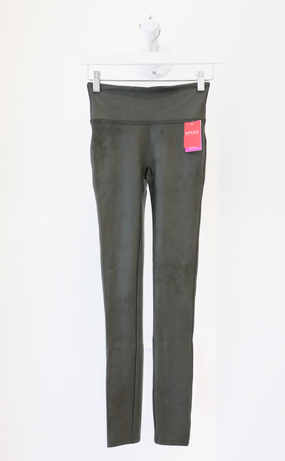 Spanx - Faux Leather Leggings in Rich Olive