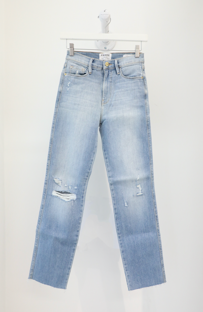 Frame Denim - Le Sylvie Raw Edge Jeans in Overdrive