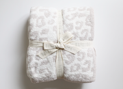 "Barefoot Dreams - Cozychic ""BITW"" Adult Throw in Cream/Stone Leopard"