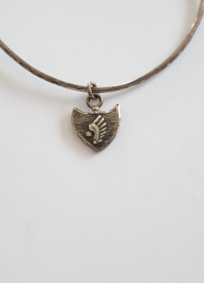Pyrrha - Eagle Wing Charm in Silver