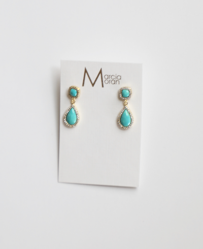 Marcia Moran - Turquoise Dangling Earrings