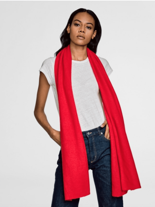 White + Warren - Travel Wrap Holly Red Heather