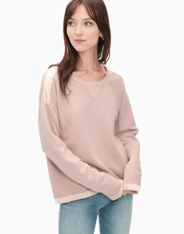 Splendid - VELVET MIXED MEDIA SWEATSHIRT