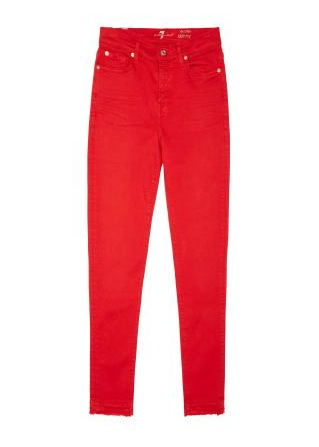 7 For All Mankind - The Ankle Skinny in Poppy