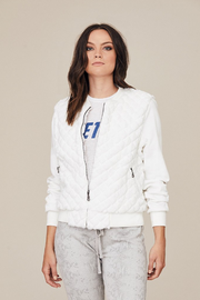 DAVID LERNER - Quilted Bomber Jacket in White