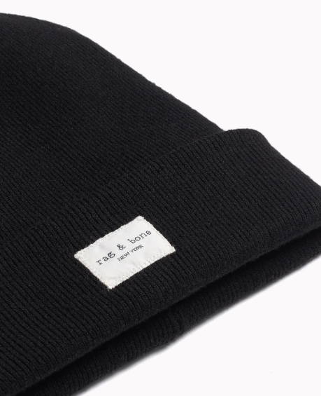 Rag & Bone - Addison Beanie in Black