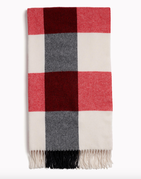 Rag & Bone - Buffalo Plaid Scarf Style in Ivory Multi