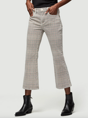 Frame - Le Cropped Mini Boot Plaid in Washed Plaid