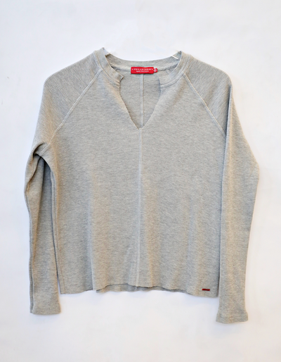 Philanthropy - Dree Pullover Top Heather Grey