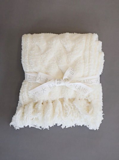 Barefoot Dreams - Cozychic Cable Scarf in Pearl