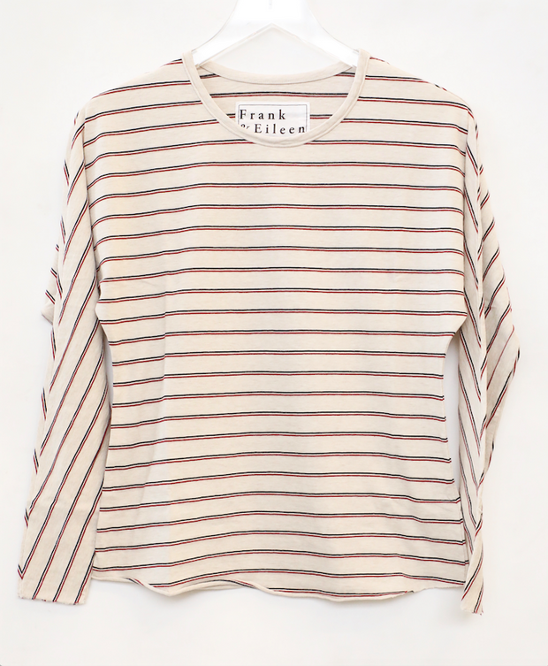 Frank & Eileen - Continuous Sleeve Tee in Oatmeal/Stripe