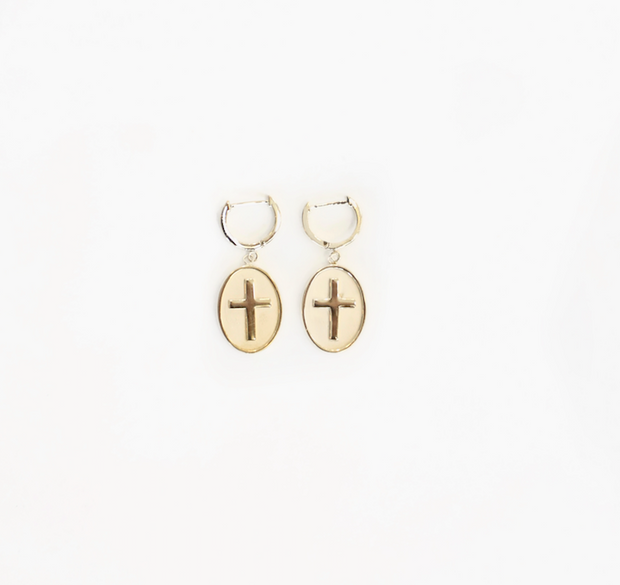 Jennifer Zeuner - Catalina Huggie Earrings in Yellow Vermeil