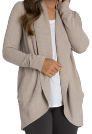 BAREFOOT DREAMS - Cozychic Lite Circle Cardi Taupe
