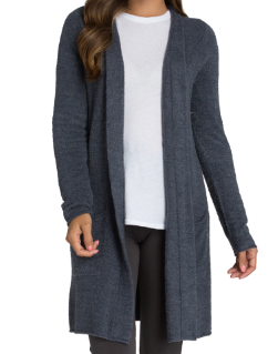 BAREFOOT DREAMS - Cozychic Lite Santa Monica Cardi in Indigo Pacific Blue
