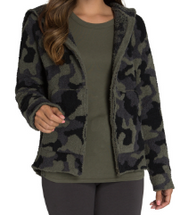 BAREFOOT DREAMS - Cozychic Women's Camo Hoodie in Olive Multi