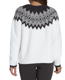 BAREFOOT DREAMS - Cozychic Women's Nordic Pullover in White Multi