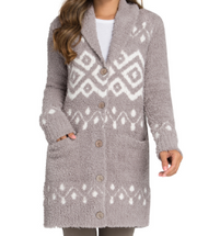 BAREFOOT DREAMS - Women's Topanga Long Cardigan in Beach Rock Multi