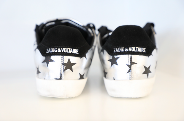 Zadig & Voltaire - Zadig Distressed Sneakers Used in Silver