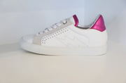 Zadig & Voltaire - ZV1747 Lightning Bolt Sneakers in Blanc