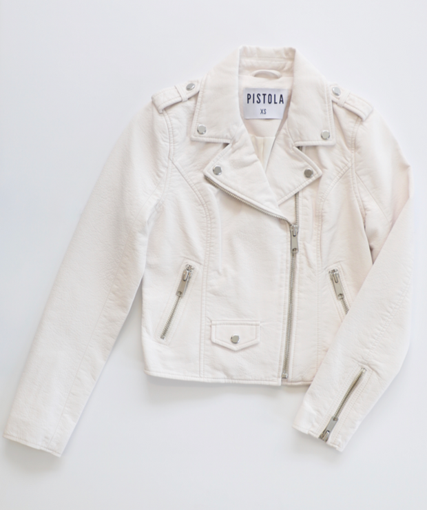 Pistola - Marni Vegan Moto Jacket in Alabaster
