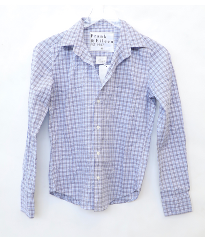 Frank & Eileen - Barry Button Up Shirt in Small Blue Plaid