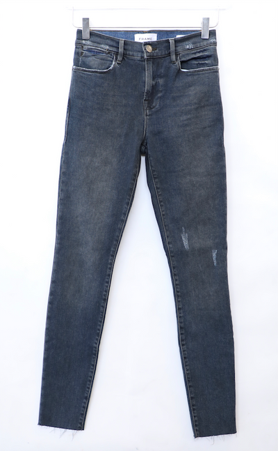 Frame - Le High Skinny Jeans with Raw Edge in Carmen Rip
