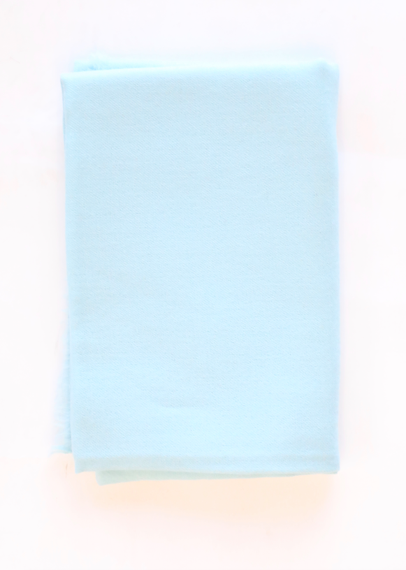 White + Warren - Solid Woven Cashmere Wrap in Robin Egg Blue