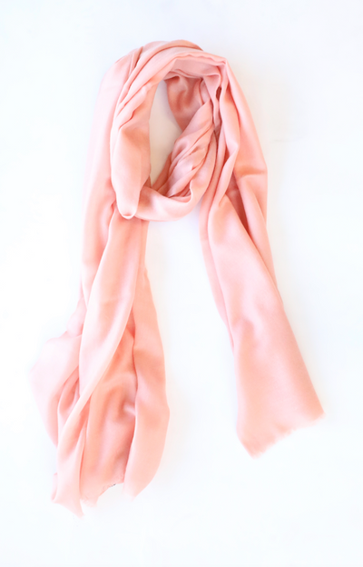 White + Warren - Solid Woven Cashmere Wrap in Cantaloupe