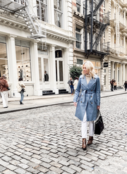 Mackage - Odel Classic Trench Coat with Vest in Sky Blue