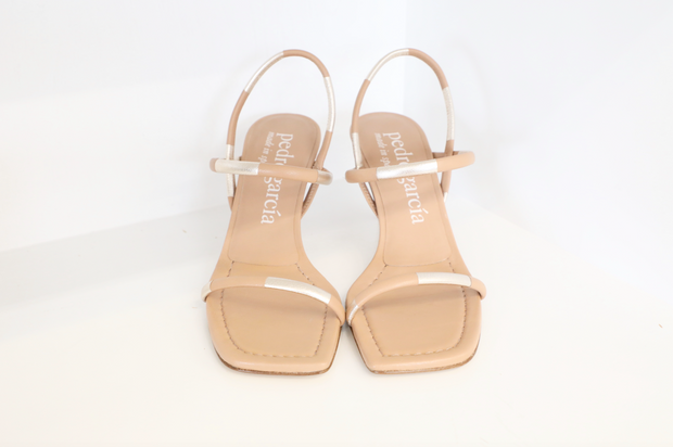 Pedro Garcia - Ilona Almond Heels in Soft Kid + Foil