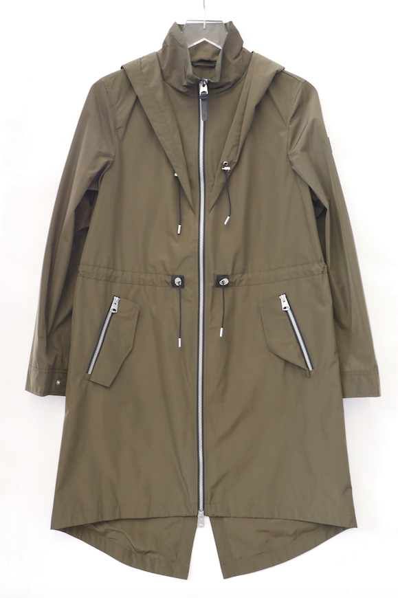 Mackage - Franki Hooded Fishtail Parka Rain Jacket in Army