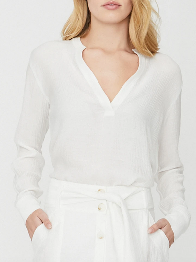 Brochu Walker - Anglia Popover Shirt in Salt White