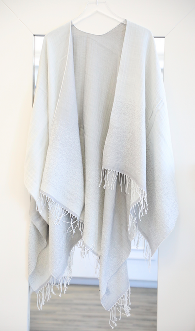 Rag & Bone - Ombre Poncho in Light Grey