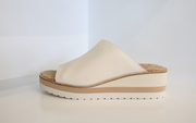 Vince - Sarria Leather Wedge Sandals in Flax