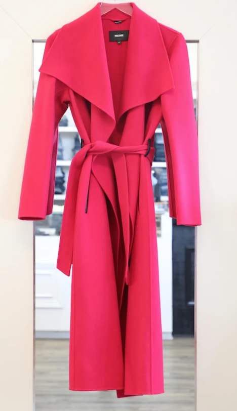 Mackage - Mai Wool Coat in Fuchsia