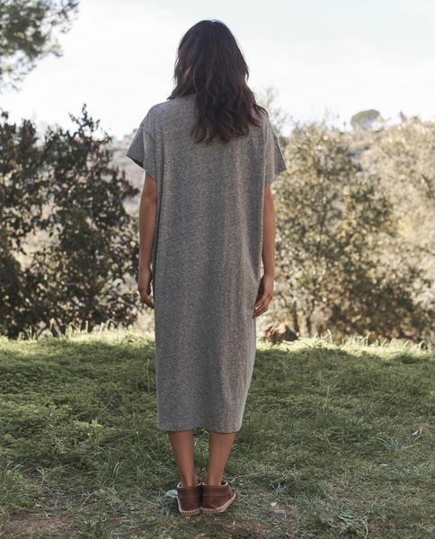 The Great - The Button Side Dress Heather Grey