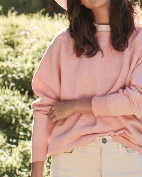 THE GREAT - The College Sweatshirt in Tulip Heather