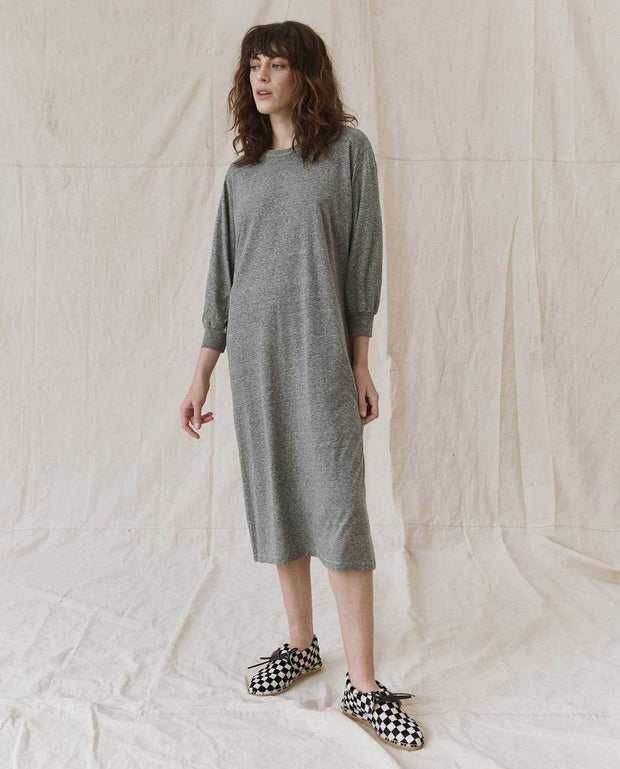 The Great - The Column Dress in Heather Grey
