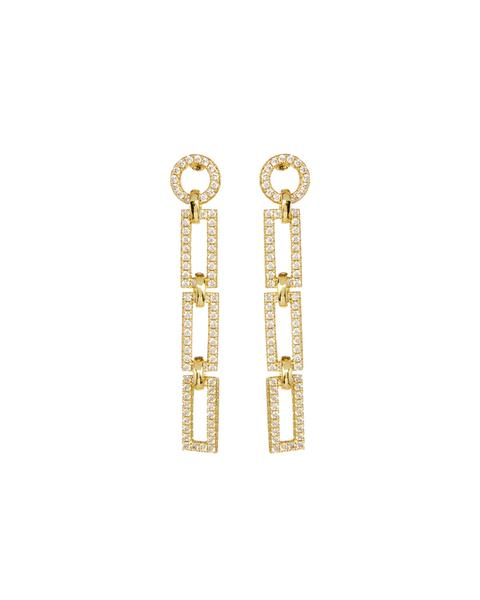 LUV AJ - The Mini Chain Link Studs in Gold